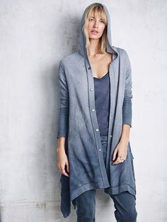Free People Washed Maxi Cardigan at Free People Clothing Boutique