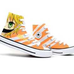 Anime Kagamine Rin/Len Hand Painted High Top Canvas Shoes