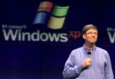 BILL GATES presenting Windows  XP  _____________________________ Reposted by Dr. Veronica Lee, DNP (Depew/Buffalo, NY, US)