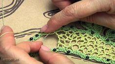 Irish Crochet Spider Lace Урок 8 часть 1 из 2 Ирландское кружево с паути...