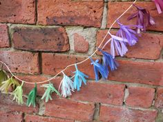 A selection of the colours we can make your custom tassel garland out of! Handmade paper decorations by Paper Street Dolls   Check out our store - paperstreetdolls.etsy.com