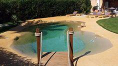 Il transforme un trou dans son jardin en piscine lagon tropicale