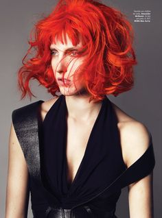 Iris Egbers for Vogue Portugal leelu fifth element red hair color