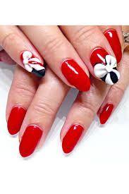 مناكير بابا نويل مناكير للكريسماس Nail Art Nail Art Designs Valentine S Day Nails