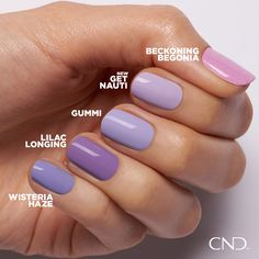 Available for limited time in CND Shellac and CND Vinylux. Cnd Shellac Nails Summer, Vinylux Nail Polish, Shellac Nail Colors, Shellac Manicure, Summer Acrylic Nails, Cnd Vinylux, Cnd Colours, Nail Polish Style, Gel Polish