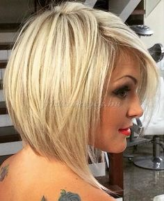 Looking for stacked bob hairstyles? Find stacked bob hairstyles pictures for graduated, fine hair, long hair, and layered hairstyles. Pick yours! Stacked Bob Hairstyles, Long Bob Hairstyles, Hairstyles 2016, Hairstyle Short, Hairstyle Ideas, Hair Ideas, Trendy Hairstyles, Hairstyles Pictures, Cute Blonde Hairstyles
