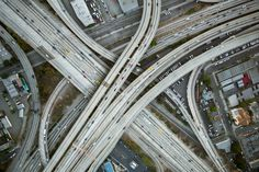 I-10 and the 110, Los Angeles, California USA by Adam Senatori