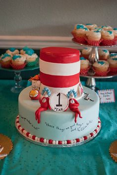 "Photo 1 of 75: Dr Seuss Thing 1 Thing 2 / Birthday ""Thing 1 Thing 2 Twins First Birthday Party"" 