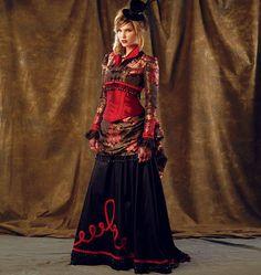 Diy Sewing Pattern-McCall's 6911-Steampunk Bolero,Top, Corset and Bustle Skirt-