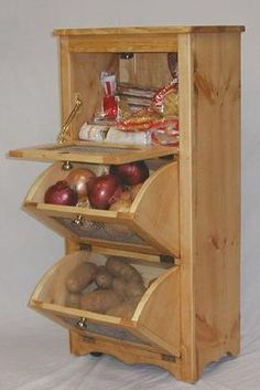 Always wanted one of these like my grandma had to store potatos and onions...here are plans to build one!