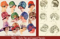 1920s-Fashion-Cloche-Hats-and-Cropped-Hairstyles. The History of 1920s Fashion.
