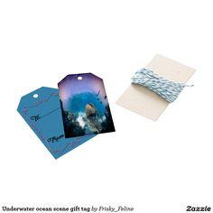 Underwater ocean scene gift tag