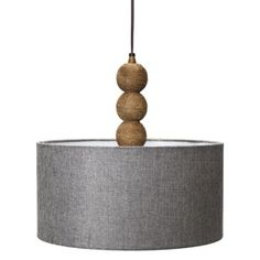 mudhut rope textured pendant lamp with gray linen shade 50 bronze sweep wall swing