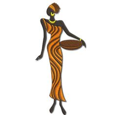 African Ladies   African Lady 3  AFL  Machine by Embroidershoppe, $3.00