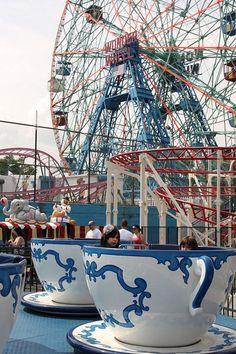 Coney Island was founded in 1856 in Brooklyn, New York. On the list of things to do in NYC! Coney Island Amusement Park, Amusement Park Rides, Brooklyn Girl, Mermaid Parade, Carnival Rides, Beach Boardwalk, Concrete Jungle, Roller Coaster, Cincinnati