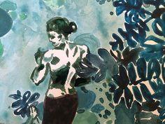 Drawing by Jungle Corner 🌿 #jungle #peinture #surmonbureau