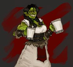 Orctoberfest! A super fun commission for @unsatisfiedkitty