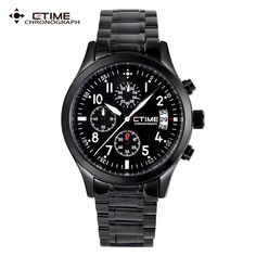 Men Chronograph Sports Watches Men Quartz Wristwatches Solid Stainless Steel Watch Waterproof Wrist Watch Relogio Masculino Hour