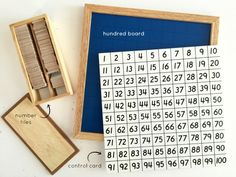 Montessori Hundred Board - Another great activity for preschoolers and can begin as early as 2.5 years old. There are lots of lesson extensions that can be used with this board. Visit PlantingPeas.com to see how our 3 year old is doing this lesson!