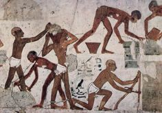 wall painting of Brick Workers of Ancient Egypt