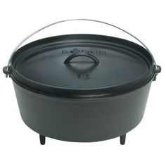 Lodge Logic® Cast Iron Camp Dutch Ovens - this lid has been used to hold coals according to one commenter... to allow backing inside it. Lid flips over and can be used as a griddle.