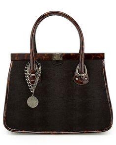 Stuart Weitzman 'Handler' Textured Leather Satchel