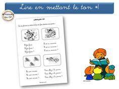 Des fiches avec des petites phrases pour s'entraîner à lire en adaptant le ton à la ponctuation.