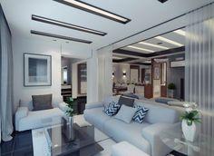 white modern living room contemporary apartment