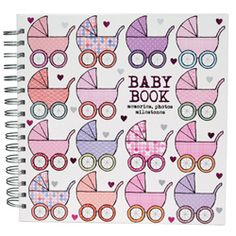 Baby Book - Soul - Pink Prams A beautiful quality hardback baby journal with pink prams on the cover. Containing approximately 96 pages, each with spaces for you to add photos and...