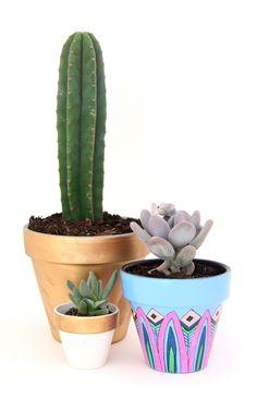 Blue Trio Planters