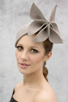 Abstract Flower Cocktail Hat - Elizabeth