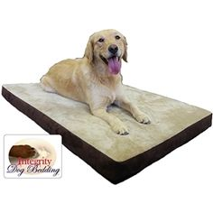 """32"""" x 46"""" Large Orthopedic Memory Foam Dog Bed      Treat your pet like a prince with a 32"""" x 46"""" Large Orthopedic Memory Foam Dog Bed.   Also, is built with a dense base layer, medium-soft center layer and a soft."""