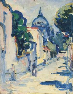 Figures in a Street, Montmartre, Paris, 1911,  Samuel John Peploe. Scottish (1871 - 1935)