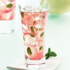 Chambord raspberry mojito -- yum!    2 oz rum  .5 oz Chambord Black Raspberry Liqueur  6-8 fresh mint leaves  2 lime wedges  1/2 tsp sugar  club soda