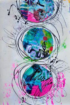 Dina Wakley AJ Circles <3 <3