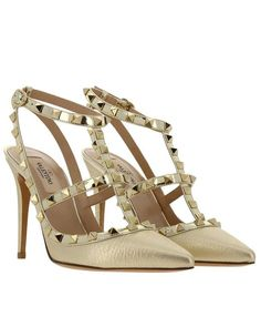 f85b63c2b5dd Valentino - Metallic Pumps Shoes Women - Lyst Metallic Court Shoes