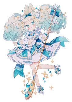 Kawaii Art, Kawaii Anime, Pretty Art, Cute Art, Character Design Inspiration, Magical Girl, Anime Chibi, Anime Style, Anime Art Girl