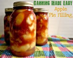 easy canned apple pie filling