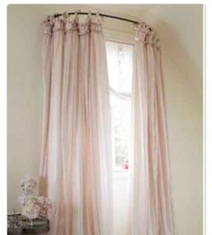 Use A Curved Shower Curtain Rod To Make A Window Look Bigger.   Samson  Would Love This In His Room If He Could Hide Behind The Curved Curtains.