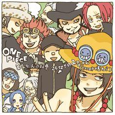 Tags: Anime, yukke, ONE PIECE, Dracule Mihawk, Kuzan (ONE PIECE), Portgas D. Ace, Kaku