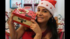 Especial de Natal #1 | Caixa com apliques e Stencil