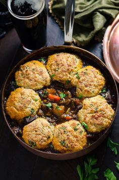 RecipesFeedFood.Com   Healthy Recipes     GUINNESS BEEF STEW WITH CHEDDAR HERB DUMPLINGS