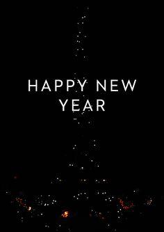 happy new fuochi d'artificio torre eiffel anno auguri di animazione