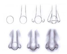 How to draw noses...step by step.