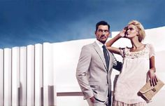 Carmen Kass and David Gandy teamed up for Sarar's spring summer 2010 ad campaign.