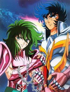 Grandes hermanos - Shun de Andromeda e Ikki de Fenix.