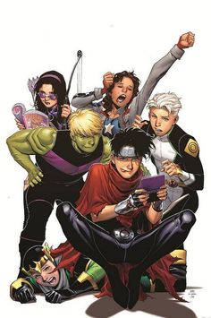 Young Avengers #5 Jim Cheung - I really wish they'd keep these as  on going comics. Young Xmen, Runaways, and Young Avengers are my Favorite comics in the Marvel Universe