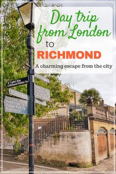 Take a day trip to Richmond from London and escape to big city to a quieter, greener town where there's still plenty of things to do. Richmond England, Richmond London, Day Trips From London, Things To Do In London, Europe Travel Tips, Travel Guides, Travel Destinations, London Guide, Future Travel