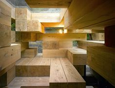 Sou Fujimoto, an architecture firm designed the Final Wooden House in 2008,