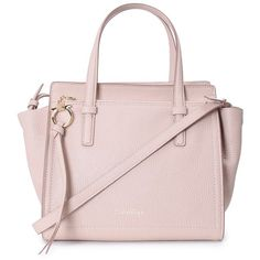 Salvatore Ferragamo Amy Small Leather Tote (€655) ❤ liked on Polyvore featuring bags, handbags, tote bags, nude, leather purses, leather zip tote, zip top tote, zipper tote and pink leather tote